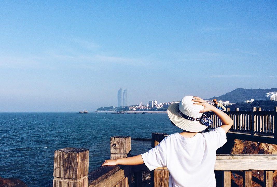 China, Frau, Reisende
